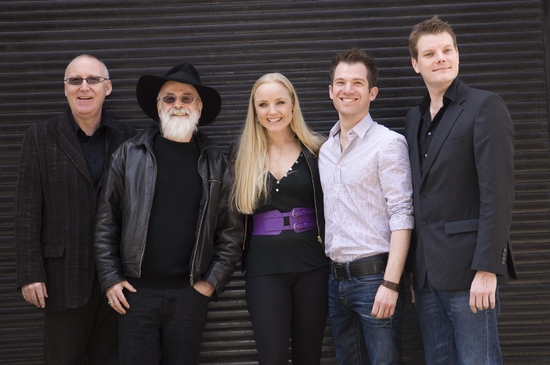 Shaun McKenna, Terry Pratchett, Kerry Ellis, Daniel Boys and Leighton James House