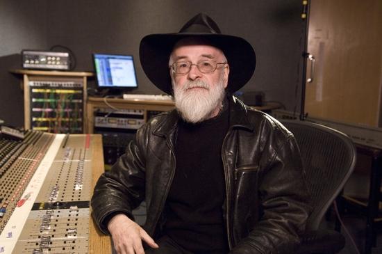Terry Pratchett in the studio