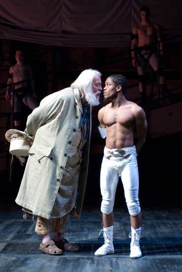 Frank Galati and Jon Michael Hill at Steppenwolf's THE TEMPEST