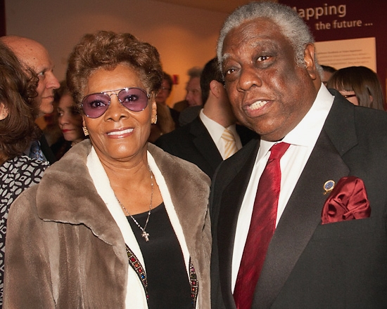 Dionne Warwick and Woodie King, Jr.