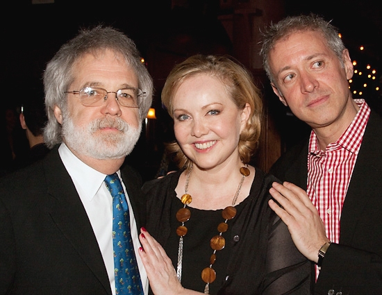 John Weidman, Susan Stroman, and Scott Frankel at Lincoln Center Theater's HAPPINESS Celebrates Opening Night!