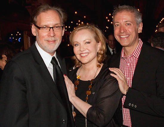 Michael Korie, Susan Stroman, and Scott Frankel at Lincoln Center Theater's HAPPINESS Celebrates Opening Night!