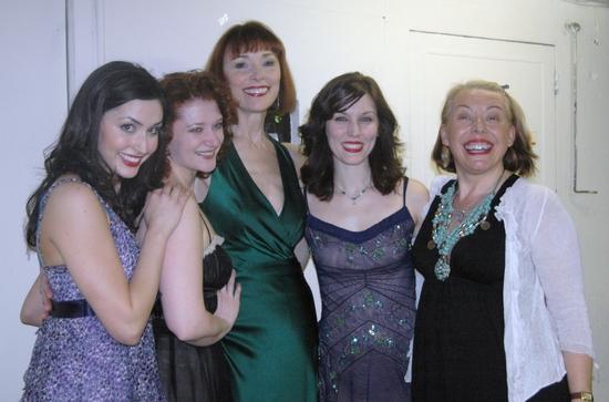 Melinda Sullivan, Kerry O'Malley, Karen Ackers, Mara Davi and Barb Jungr