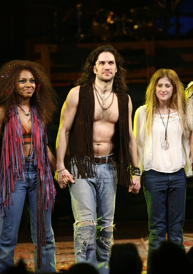 Photo Coverage: 'The Sun Shines In' HAIR Returns to Broadway - Opening Curtain Call!
