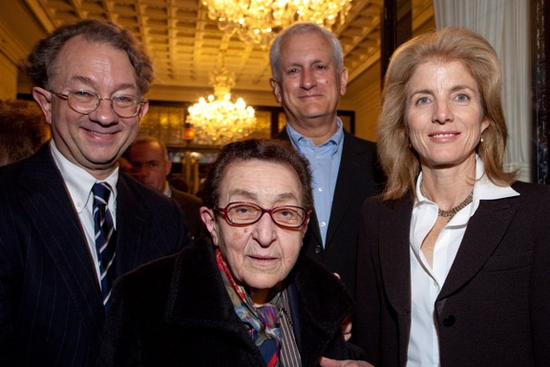 William Ivey Long, Maria Brizzi, Edwin Schlossberg, Caroline Kennedy  at 2009 Irene Sharaff Awards