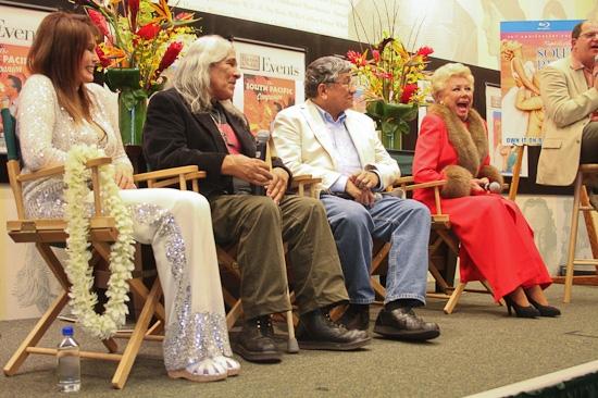 Barbara Luna, Michael DeLeon, Noel DeLeon and Mitzi Gaynor