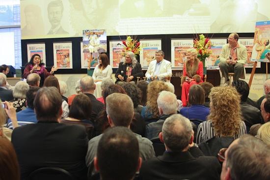 Loretta Ables Sayre, Barbara Luna, Michael DeLeon, Noel DeLeon, Mitzi Gaynor and Laurence Maslon