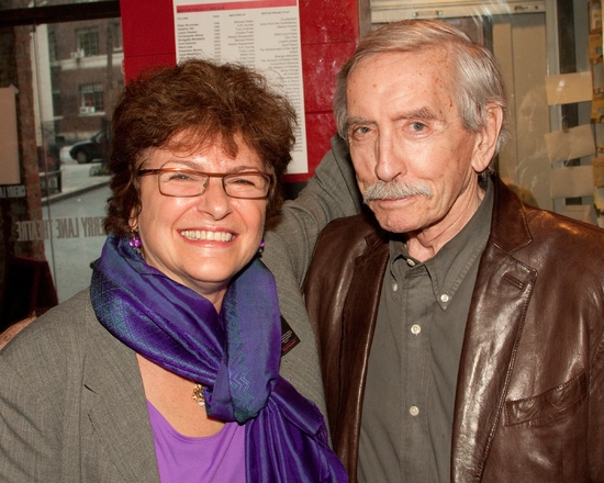 Angelina Fiordellisi and  Edward Albee