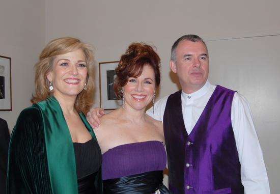 Karen Mason, Debbie Gravitte, and Martin Yates