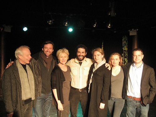 Jim Boerlin, Hugh Jackman, his wife Deborah-Lee Furness, C.S. Drury, Mickey Sumner, Kirsty Meares and Peter Zinn at Hugh Jackman Visits 'RUMSPRINGA'