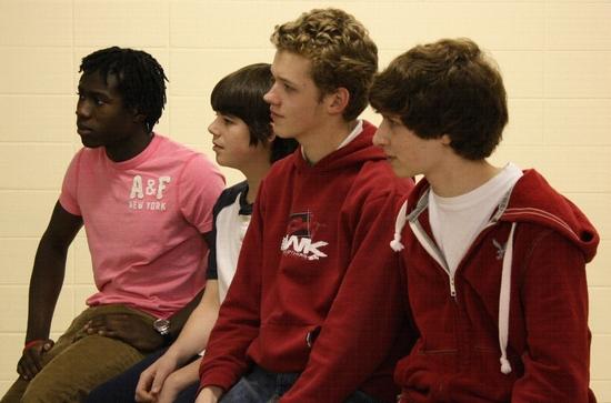 Kwaku Acheampong, Alex Fullerton, Johnny Fullerton and Josh Marcus-Blank