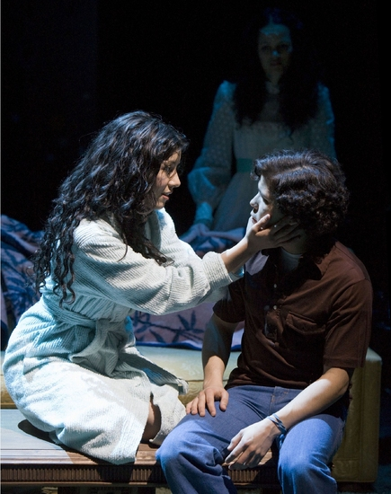 Stephanie Beatriz, Onahoua Rodriguez, and Carlo Albin at LYDIA At Mark Taper Forum