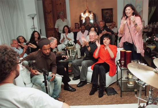 Party for Liza Minnelli at the home of Anna Maria Tornaghi