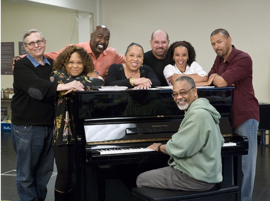Richard Maltby, Jr., Armelia McQueen, Doug Eskew, Roz Ryan, Arthur Faria, Debra Walton, Eugene Barry-Hill, and William Foster McDaniel at Ain't Misbehavin Rehearsal At Center Theater Group