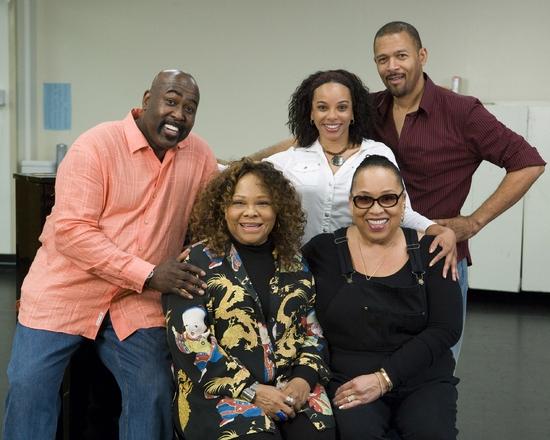 Doug Eskew, Armelia McQueen, Debra Walton, Roz Ryan and Eugene Barry-Hill at Ain't Misbehavin Rehearsal At Center Theater Group