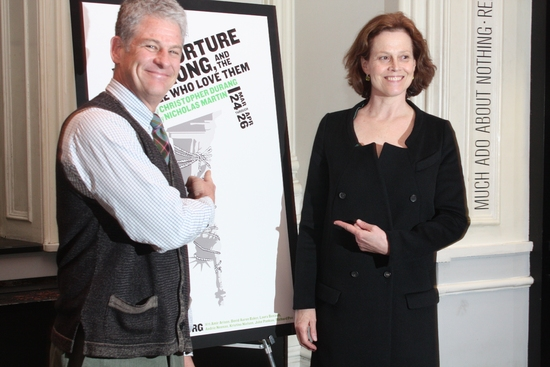 Jim Simpson and Sigourney Weaver