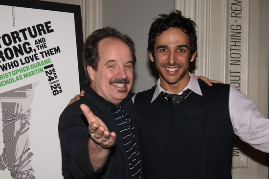 "John Pankow (""Reverend Mike"") and Amir Arison (""Zamir"")"