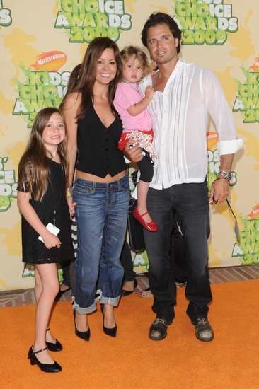 Brooke Burke and David Charvet with family