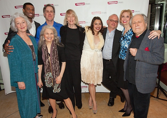 The company: Jane Alexander, Robert Christopher Riley, Lynn Cohen, Jack Gilpin, playwright Tina Howe, Vanessa Aspillaga, director Michael Wilson, Julie Halston and David Margulies