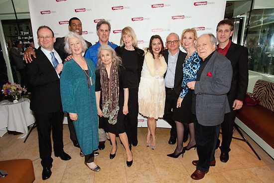 The Company: Andrew Leynse, Primary Stages Artistic Director, Jane Alexander, Robert Christopher Riley, Lynn Cohen, Jack Gilpin, playwright Tina Howe, Vanessa Aspillaga, director Michael Wilson, Julie Halston, David Margulies and Elliot Fox, Primary Stage