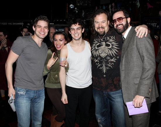 Jeremy Jordan, Angel Reed, Wesley Taylor, Tad Wilson and Chris D'Arienzo
