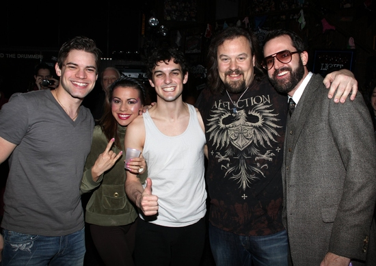 Jeremy Jordan, Angel Reed, Wesley Taylor, Tad Wilson and Chris D'Arienzo at 'The Search Is Over' - ROCK OF AGES Gypsy Robe Ceremony!