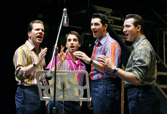 Steve Gouveia, Joseph Leo Bwarie, Josh Franklin and Matt Bailey at JERSEY BOYS National Tour