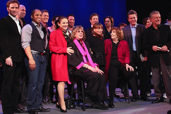 Malcolm Gets, Darrian Ford, Tovah Feldshuh, Phyllis Newman, Alice Playten and Anne Meara