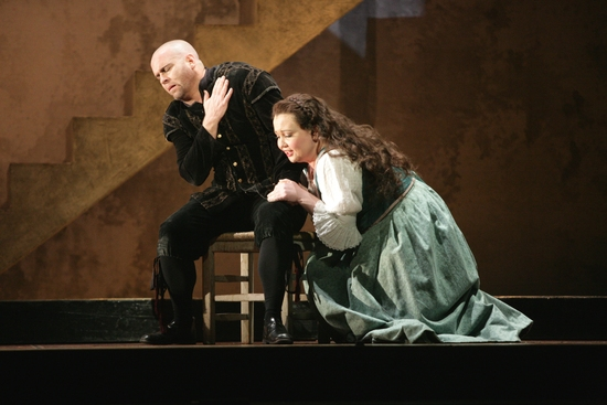 Scott Hendricks and Albina Shagimuratova at Houston Grand Opera's RIGOLETTO