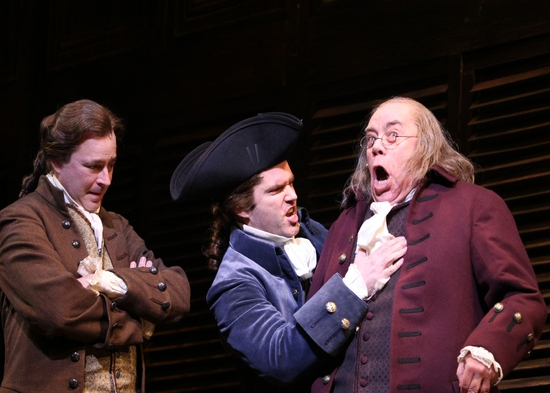 Don Stephenson (John Adams), Aaron Ramey (Richard Henry Lee), Conrad John Schuck (Benjamin Franklin)