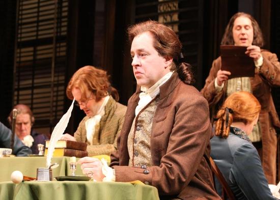 Jamie LaVerdiere (James Wilson), Don Stephenson (John Adams), and Kevin Pariseau (Charles Thomson)