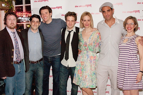 Mark Schultz, Evan Cabnet, Jason Butler Harner, Ben Rappaport, Sarah Paulson, Bobby Cannavale, and Jackie Hoffman