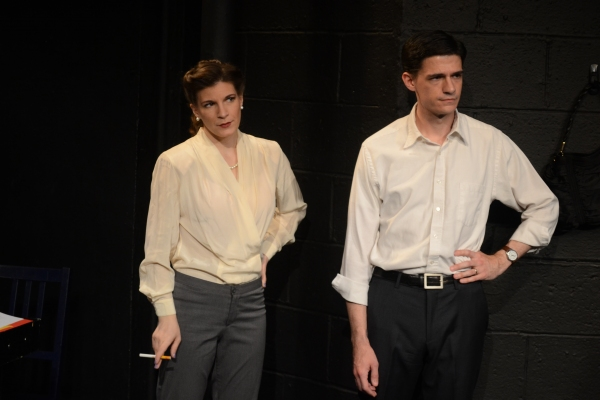 Kristen Gehling and Colin Fisher as Margo Jones and Eddie Dowling Photo
