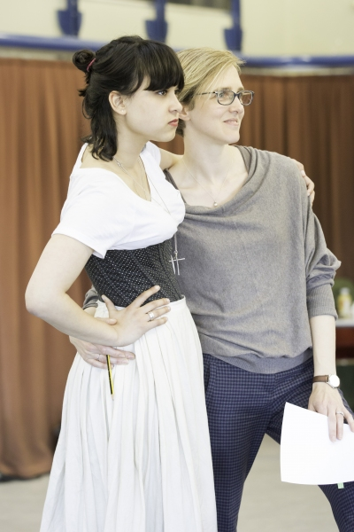 Isabella Laughland (Elizabeth Bennet) and director Tamara Harvey
