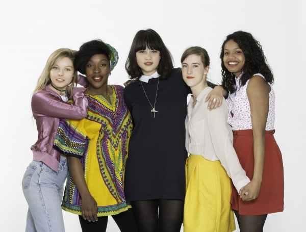 Nell Hudson, Ronke Adekoluejo, Isabella Laughland, Grace Chilton and Leona Allen Photo