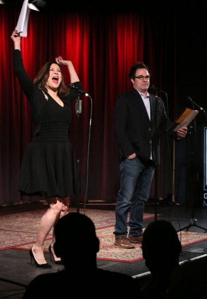 Jennifer Tilly and Roger Bart