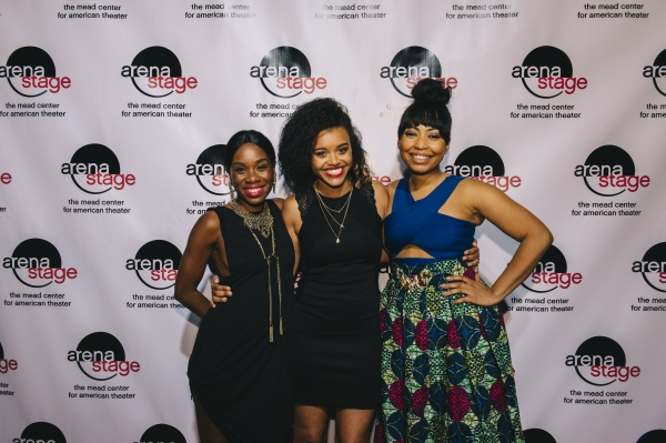 Actresses from THE BLOOD QUILT Afi Bijou, Meeya Davis and Nikiya Mathis
