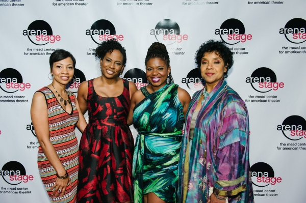 Event Chair and Arena Stage Board member Shawna Watley (Senior Policy Advisor with Holland & Knight) with director Kamilah Forbes, playwright Katori Hall and Phylicia Rashad