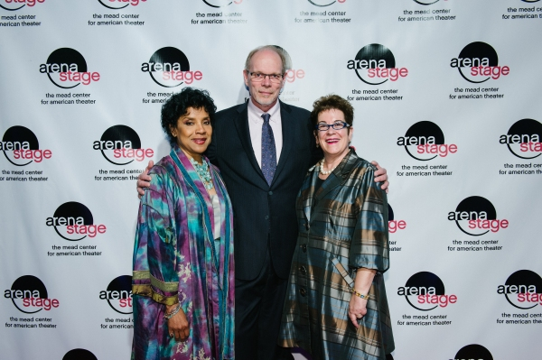 Phylicia Rashad with Arena Stage Executive Producer Edgar Dobie and Artistic Director Molly Smith