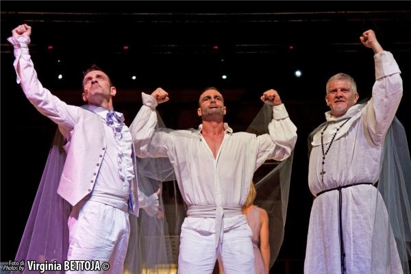 Cristian Ruiz, Marco Gandolfi Vannini, Lello Abate at 'Fantasmi a Roma', lo show-case