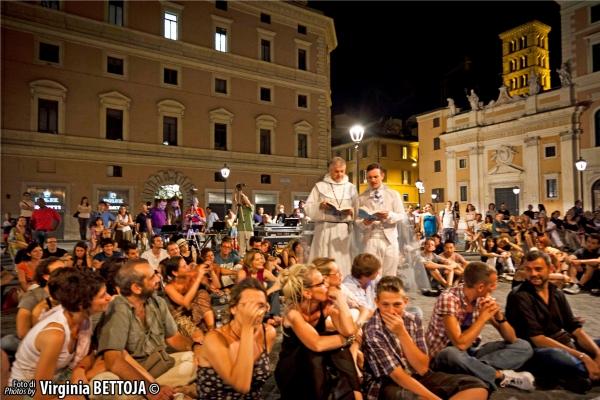 Lello Abate, Cristian Ruiz e il pubblico.  at 'Fantasmi a Roma', lo show-case