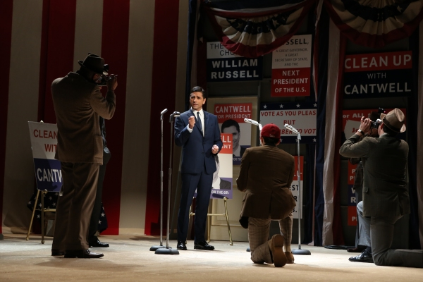John Stamos and Company at First Look at Elizabeth Ashley, Cybill Shepherd & More in Gore Vidal's THE BEST MAN!