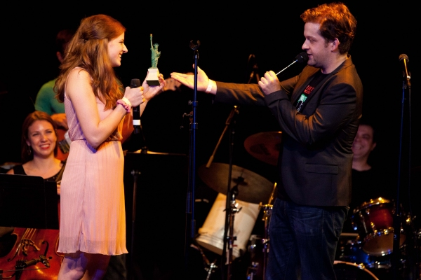 Danielle Wade and Andrew Kober at Carner & Gregor's BARELY LEGAL at Le Poisson Rouge