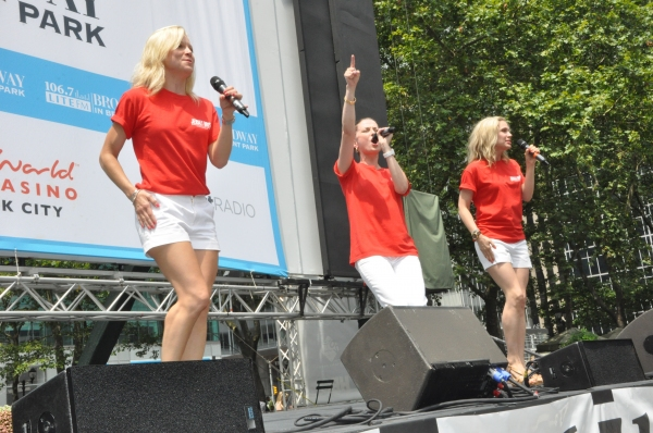 Hersey Boys-Cara Cooper, Katie O'Toole and Jessica Rush at FANTASTICKS, VOCA PEOPLE, and More Play Broadway In Bryant Park!