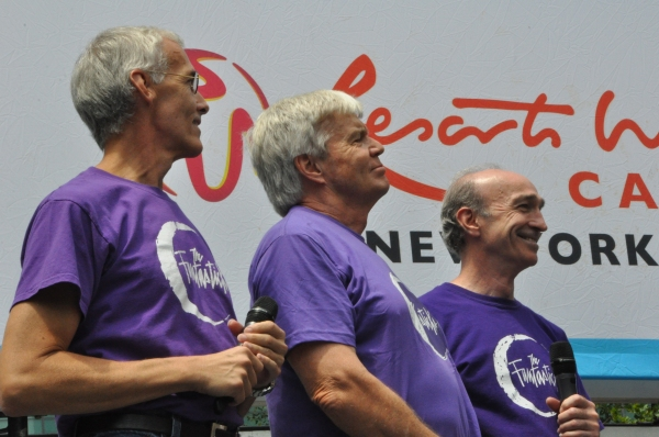 Scott WIllis, John Davidson and Tom Flagg at FANTASTICKS, VOCA PEOPLE, and More Play Broadway In Bryant Park!