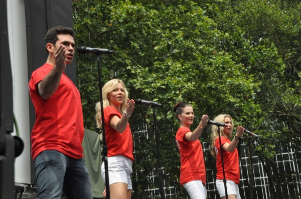 Dominic Scaglione Jr., Cara Cooper, Katie O'Toole and Jessica Rush at FANTASTICKS, VOCA PEOPLE, and More Play Broadway In Bryant Park!