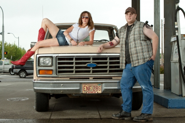 Claire Flatz as Ariel Moore & Larry Taylor as Chuck Cranston