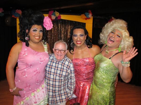 Kay Sedia, Leslie Jordan, Chita Parol, Frieda Laye at Jai Rodriguez, et. al Visit Chico's Angels Opening Night