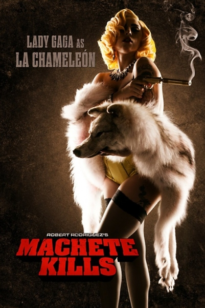 Photo Flash: First Look - Lady Gaga's Acting Debut in MACHETE KILLS