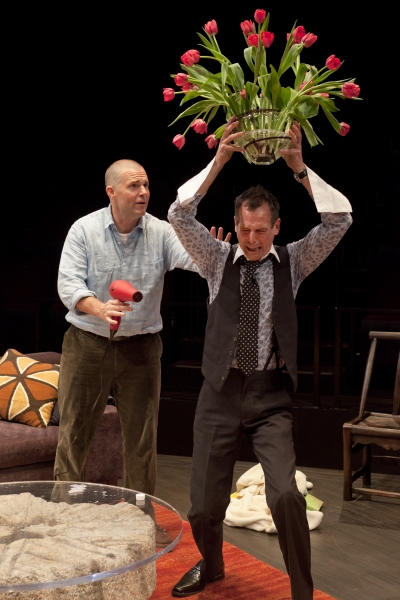 (from left) Lucas Caleb Rooney as Michael Novak and T. Ryder Smith as Alan Raleigh in the San Diego Premiere of God of Carnage by Yasmina Reza, translated by Christopher Hampton and directed by Richard Seer, July 27 - Sept. 2, 2012 at The Old Globe. Photo